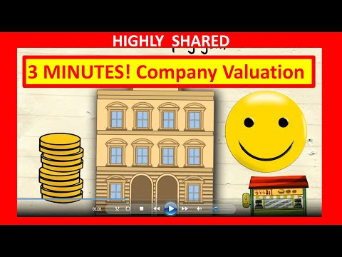 3 Minutes! How to Value a Business for Company Valuation and How to Value a Company