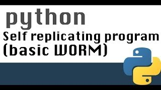 Basic self replicating program in Python (worm like)