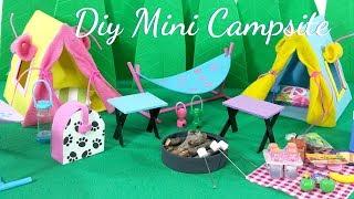 DIY Miniature Campsite Outdoor Scene
