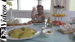 Five-year-old stuns by preparing an entire Iftar for Ramadan