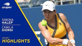 Simona Halep vs Camila Giorgi Highlights | 2021 US Open Round 1