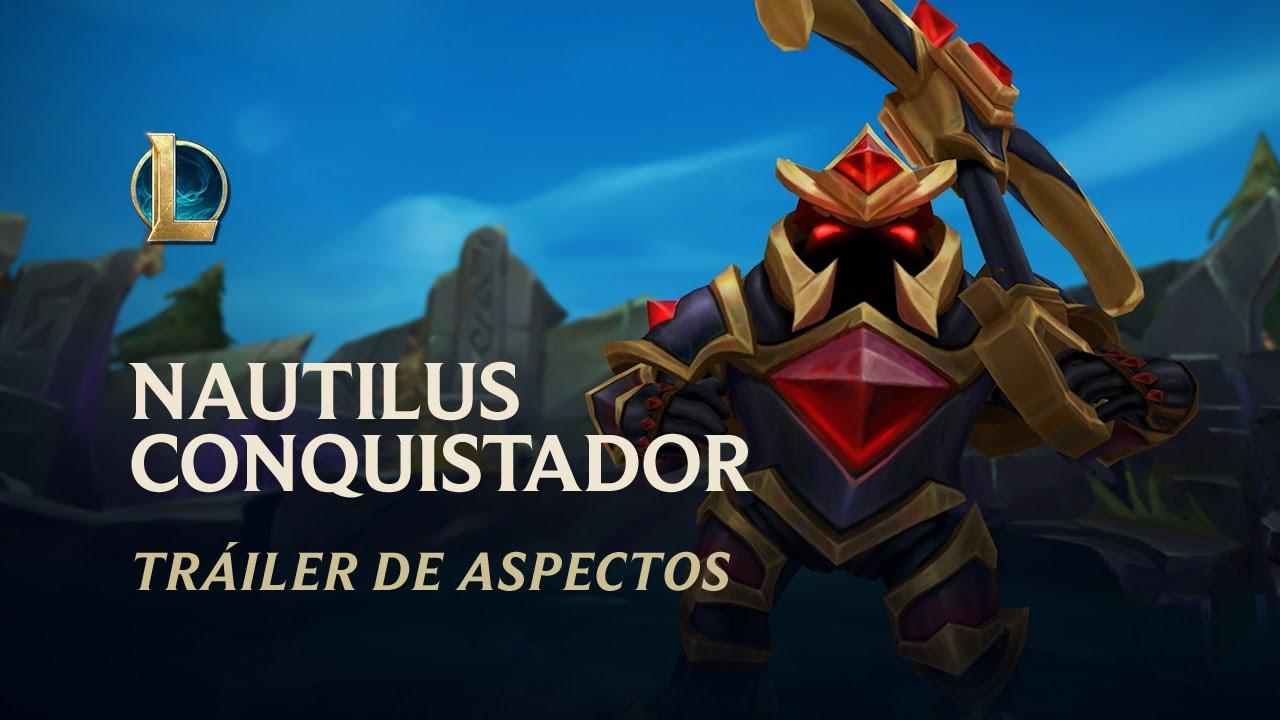 Nautilus conquistador   Tráiler de aspecto - League of Legends