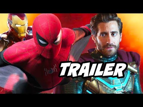 Spider-Man Far From Home Trailer - Avengers Endgame Easter Eggs Breakdown