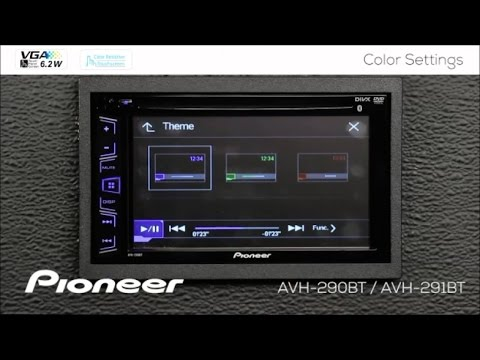 how to color settings on pioneer avh 290bt avh 291bt. Black Bedroom Furniture Sets. Home Design Ideas