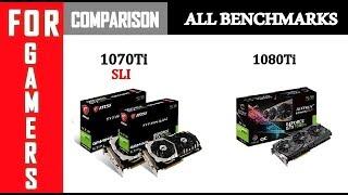1080Ti vs 1070Ti SLI | I7 8700K | Comparison |