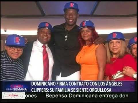Dominicano firma contrato con Los Ángeles Clippers y su familia en Haina está orgullosa