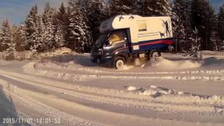 Дорога, проходимость, Kia Bongo полноприводный автодом СеверАВТОдом.(Небольшая подборка видео о полноприводном автодоме в родной ему среде. Severavtodom.ru., 2016-06-25T18:09:57.000Z)