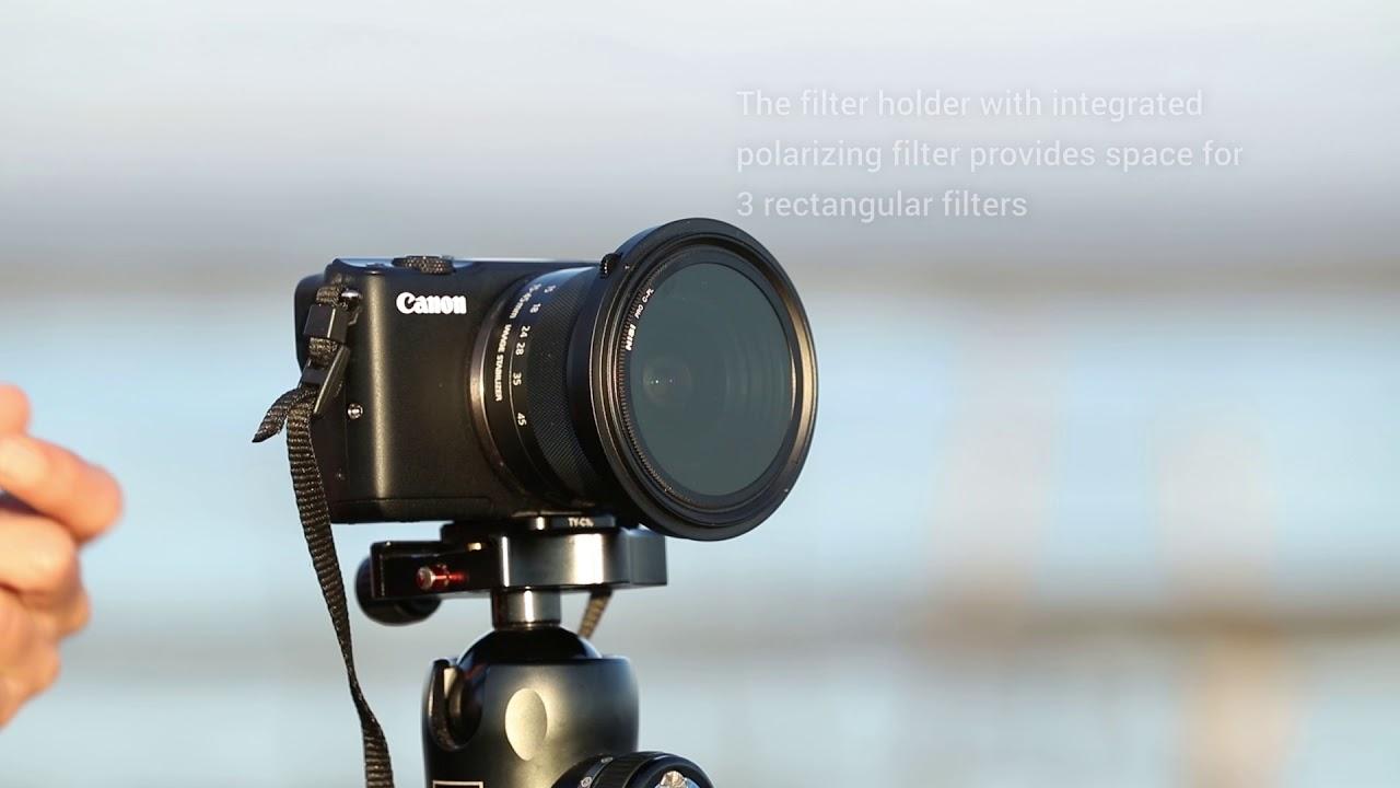NiSi Filters 70mm Starter Kit:Filter Holder Kit M1+70x80mm ND64+70x100 Soft gnd8