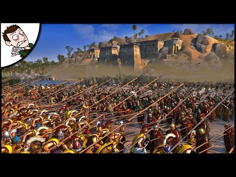 MASSIVE RIVER NILE EGYPT v ROMAN EMPIRE BATTLE! Ancient Empires Gameplay (Total war Attila Mod)
