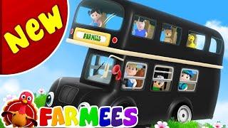 As rodas do ônibus gira gira 🚍 | canção de ônibus | The Wheels On The Bus | New Childrens Songs