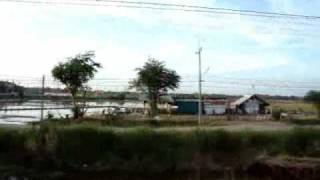 thailand 2009: train ride to bangkok - ayutthaya (アユッタヤー)