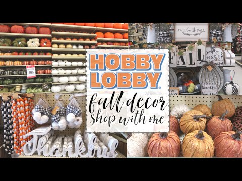 HOBBY LOBBY FALL DECOR 2019 | SHOP WITH ME | NEW FALL DECOR AT HOBBY LOBBY | FALL Y'ALL SERIES ep. 4