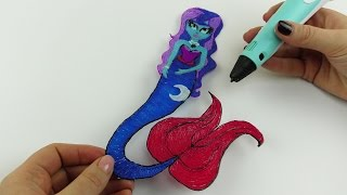 My Little Pony | Drawing Princess Luna Mermaid with 3D PEN