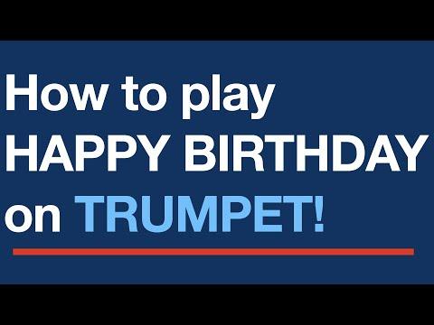 Happy Birthday To You Free Trumpet Sheet Music Score Youtube