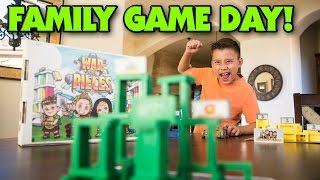 Repeat youtube video WAR & PIECES - Family Game Night (Day)!!!