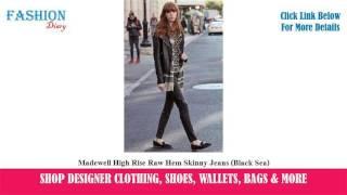 madewell high rise raw hem skinny jeans black sea