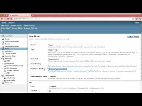 Cluster Management With GlassFish 3.1.2 Console