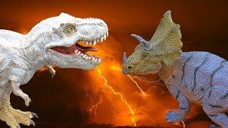 ДИНОЗАВРЫ. Тираннозавры, гиганотозавры, трицератопсы и др. СБОРНИК мультиков про динозавров