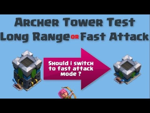 Archer Tower Test !  Long Range Vs Fast Attack | Clash Of Clans