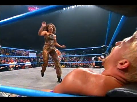 (720pHD): WCW Nitro 11/27/00 - Rey Mysterio Jr (w/Tygress & Filthy Animals) vs. Jeff Jarrett