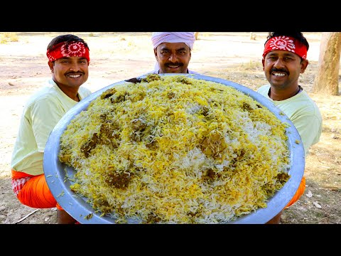 Cooking Chicken Biryani for Tribe Kids and People | Village Chicken Biryani