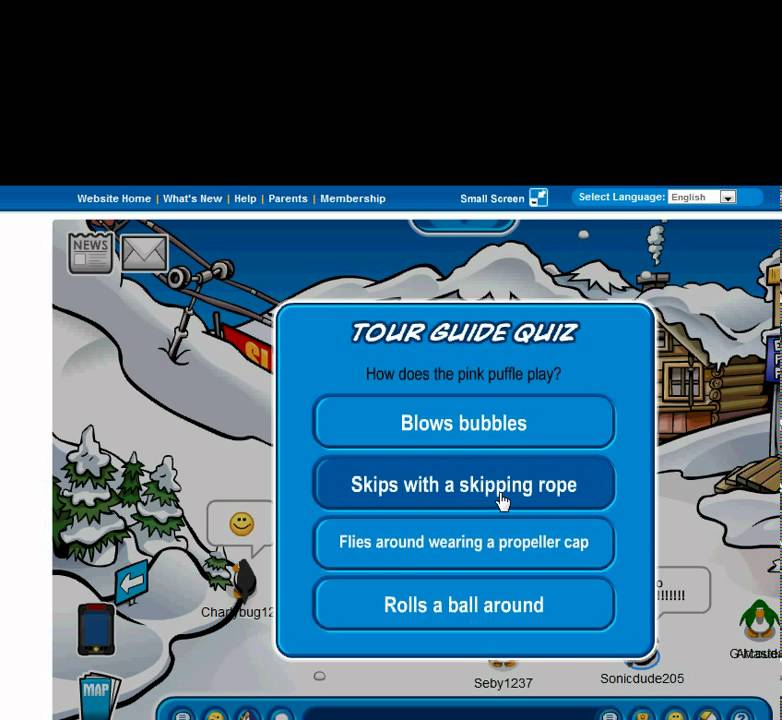 club penguin tour guide answers - YouTube