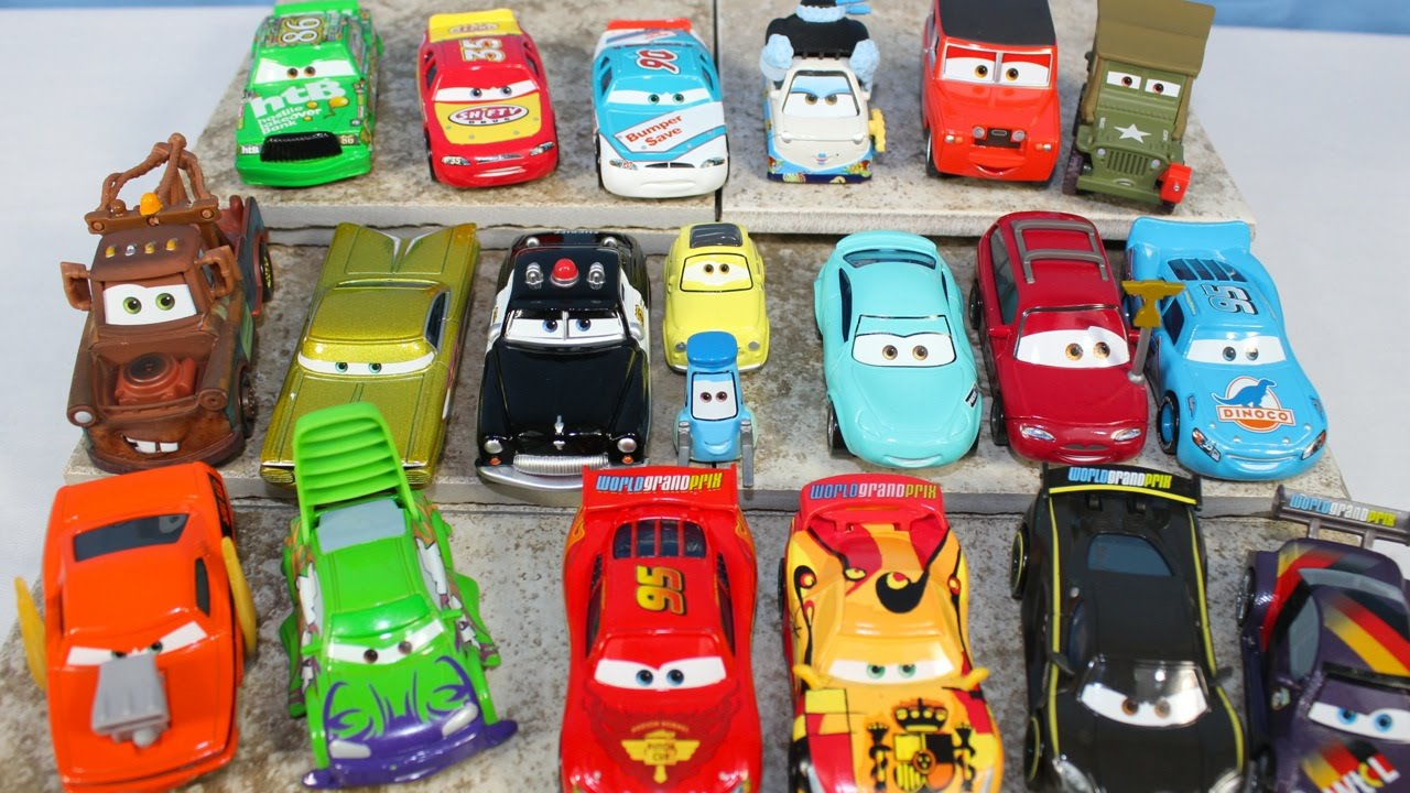 New complete 2015 disney pixar cars collection dinoco lightning wipeout juguete coches youtube - Juguetes disney cars ...
