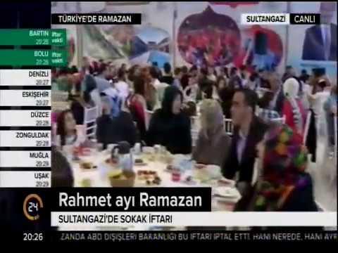 24 Tv -Sultangazi'de İftar Yemeği