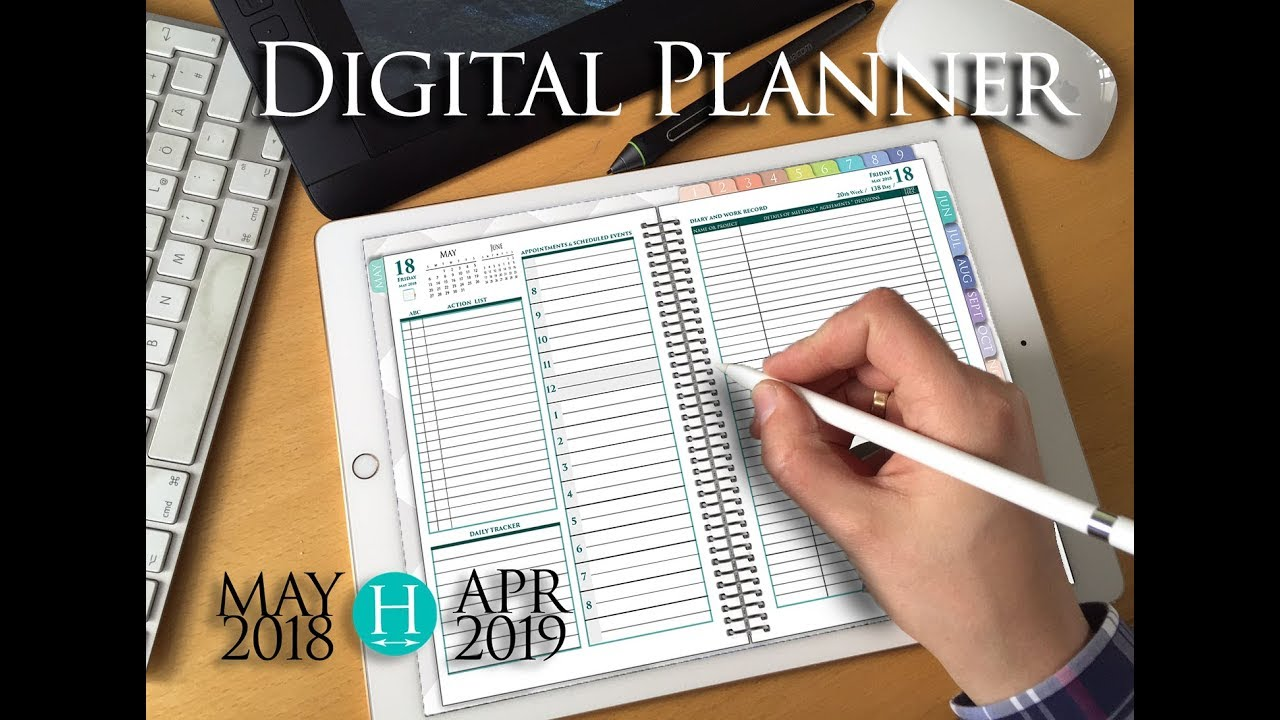 Nifty image in digital planners and organizers