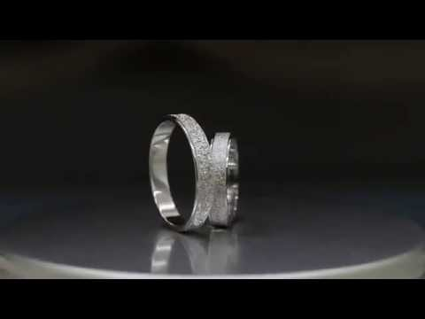 Engravable Sterling Silver Matte Couples Rings for Him or Her by Gullei.com