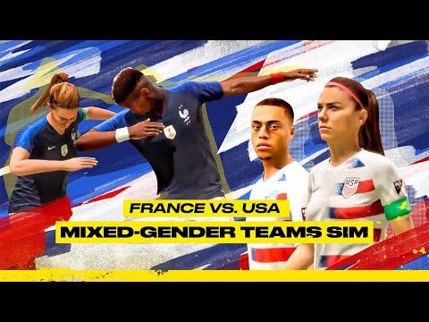 France vs. USA: Mixed-Gender Teams Sim on FIFA 20