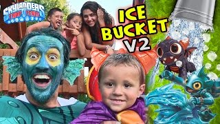 Spry & Tidal Wave Gill Grunt Ice Bucket Challenge! Real Life Skylanders aka Lightcore Chase & Dad v2
