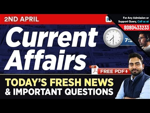 #278 : 2 April 2019 Current Affairs in Hindi | Current Affairs 2019 Questions + Static GK Tricks