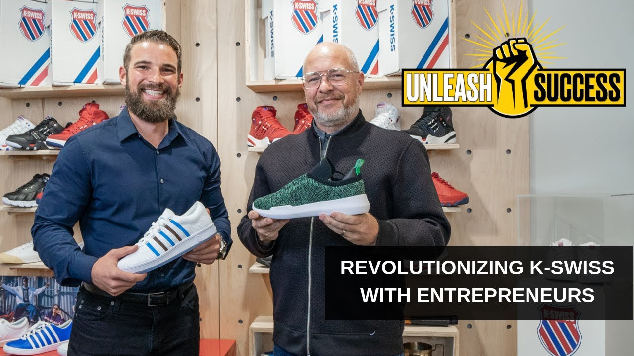 Entrepreneur Shoes with President of K