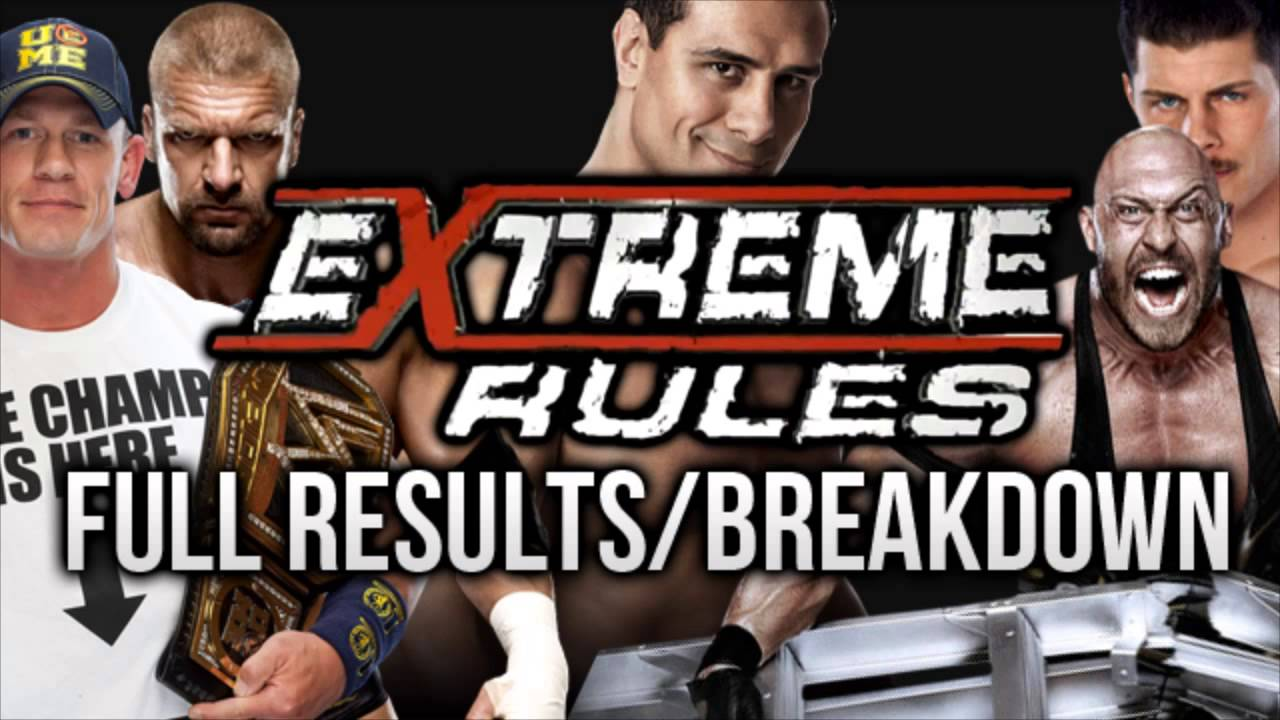 Wwe extreme rules 2013 full results and highlights