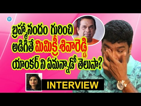 Mimicry Siva Reddy about Brahmanandam controversy - Telugu Popular TV