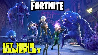 Fortnite - Epic Zombie Survival & Defense: 1st Hour Gameplay Walkthrough (Alpha Footage)