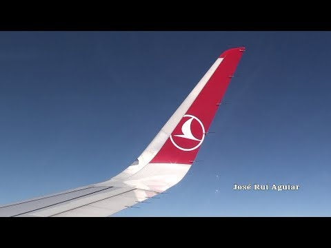 Full Flight Turkish Airlines Airbus A321-200 Istanbul Ataturk Airport / Lisbon Turbulence Area