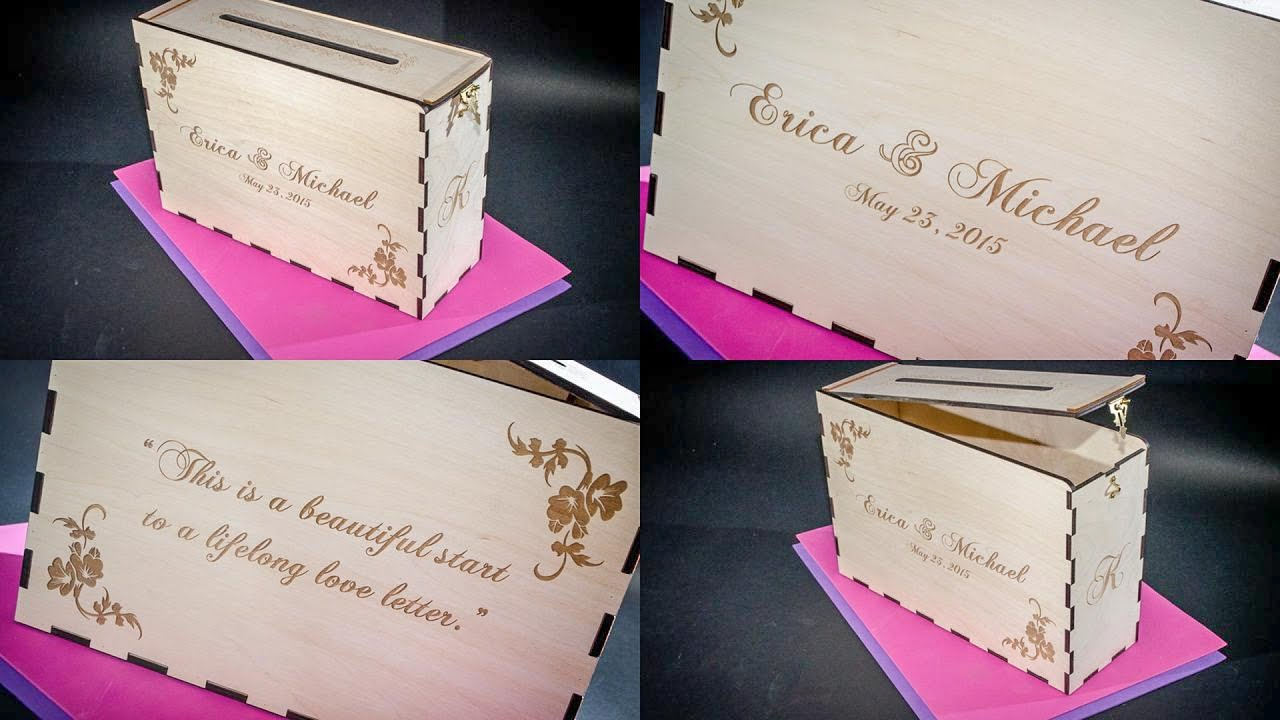 Wedding Card or Money Box for Erica + Michael - YouTube