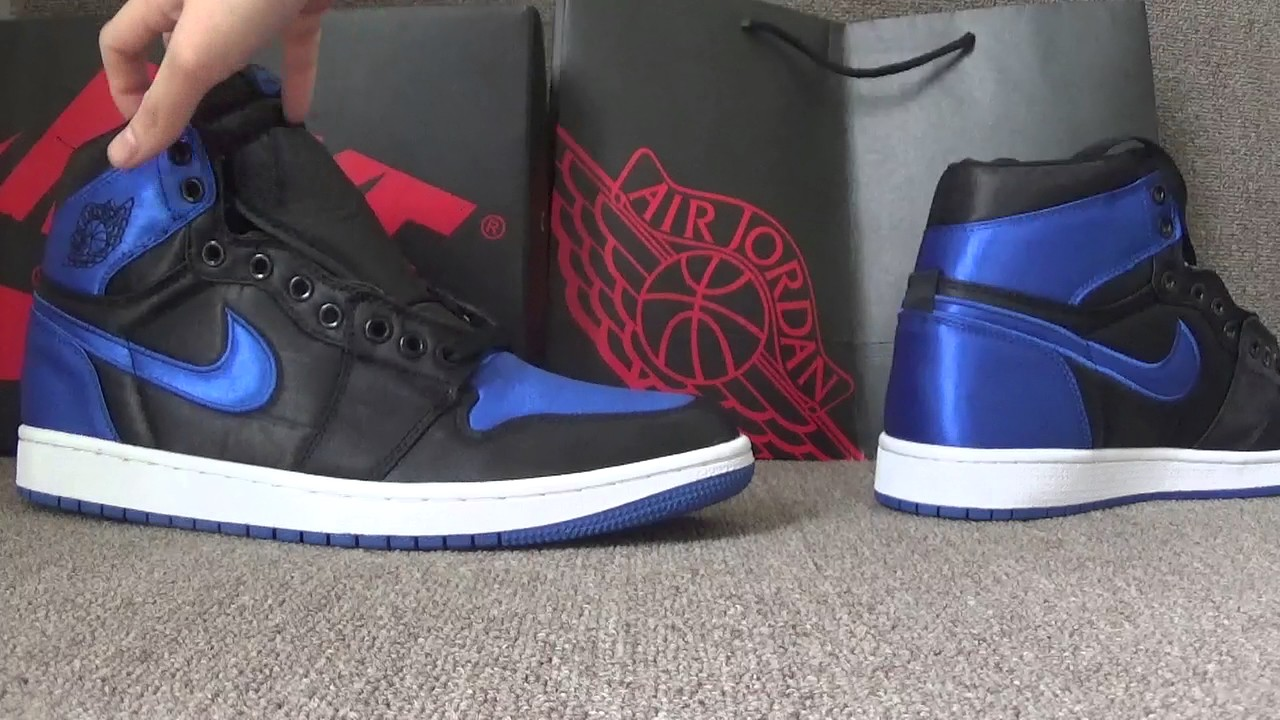 d5186ead3ff770 Authentic Air Jordan 1 OG High Royal Satin - YouTube
