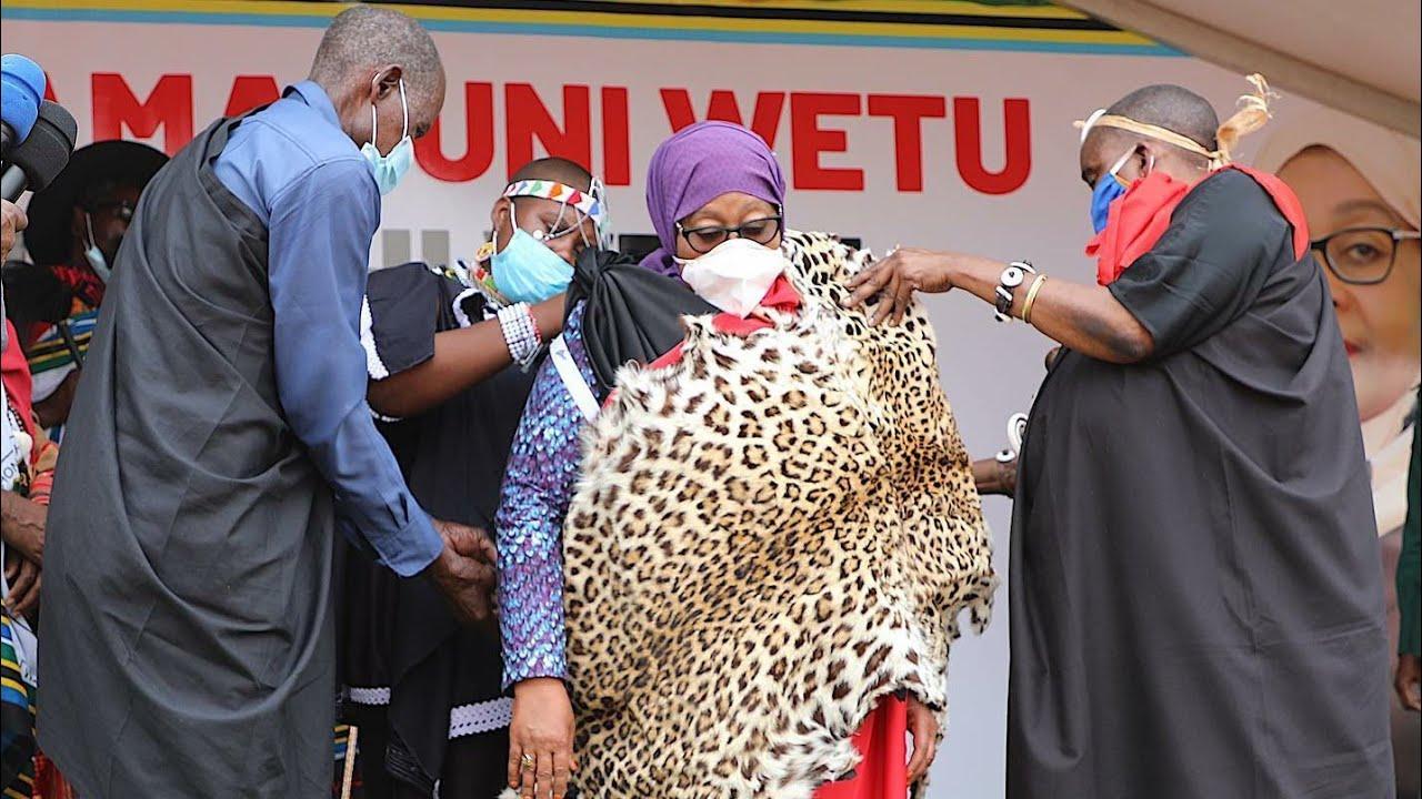 Download RAIS SAMIA APEWA JINA JIPYA 'HANGAYA', ASIMIKWA KUWA MKUU WA MACHIFU  TANZANIA