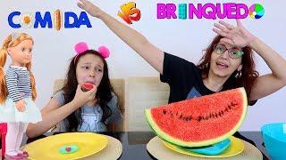 COMIDA VS BRINQUEDOS DA MINHA BONECA OUR GENERATION   Luluca