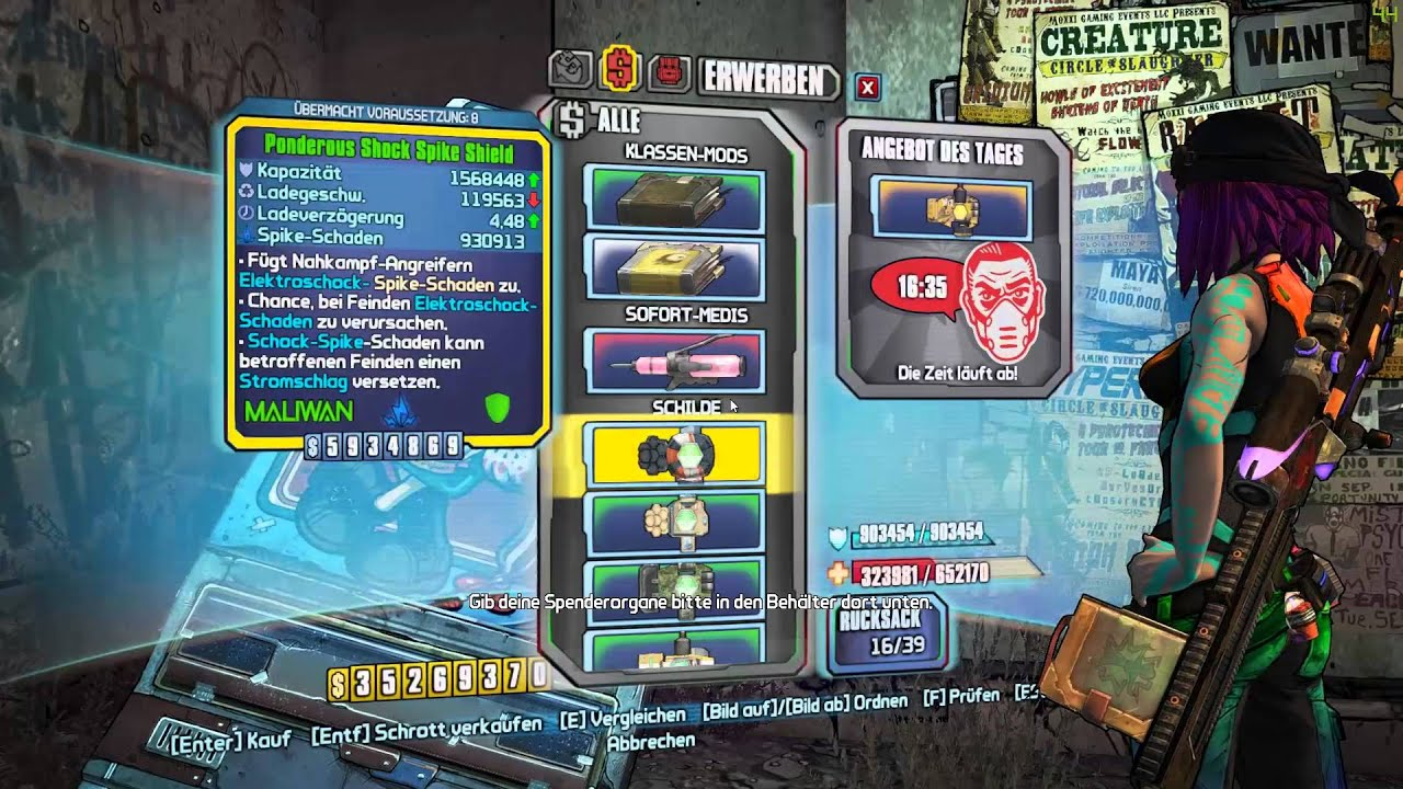 Borderlands 2 Maya Builds Lvl72 - Year of Clean Water