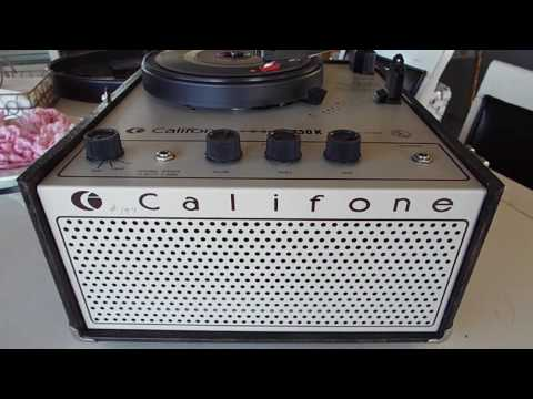 Califone 1440K Record Player Playing A 45 RPM Record.