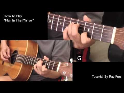 Man In The Mirror Guitar Intro and Verse Tutorial - YouTube