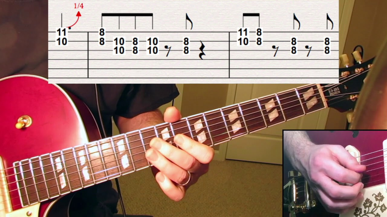 Guitar Lesson Hound Dog Solo With Tabs Youtube