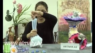 Как сделать букет из игрушек?(Если вам надоели традиционные подарки в виде букетов из цветов, попробуйте сделать необычный букет из мягк..., 2014-02-03T08:30:41.000Z)