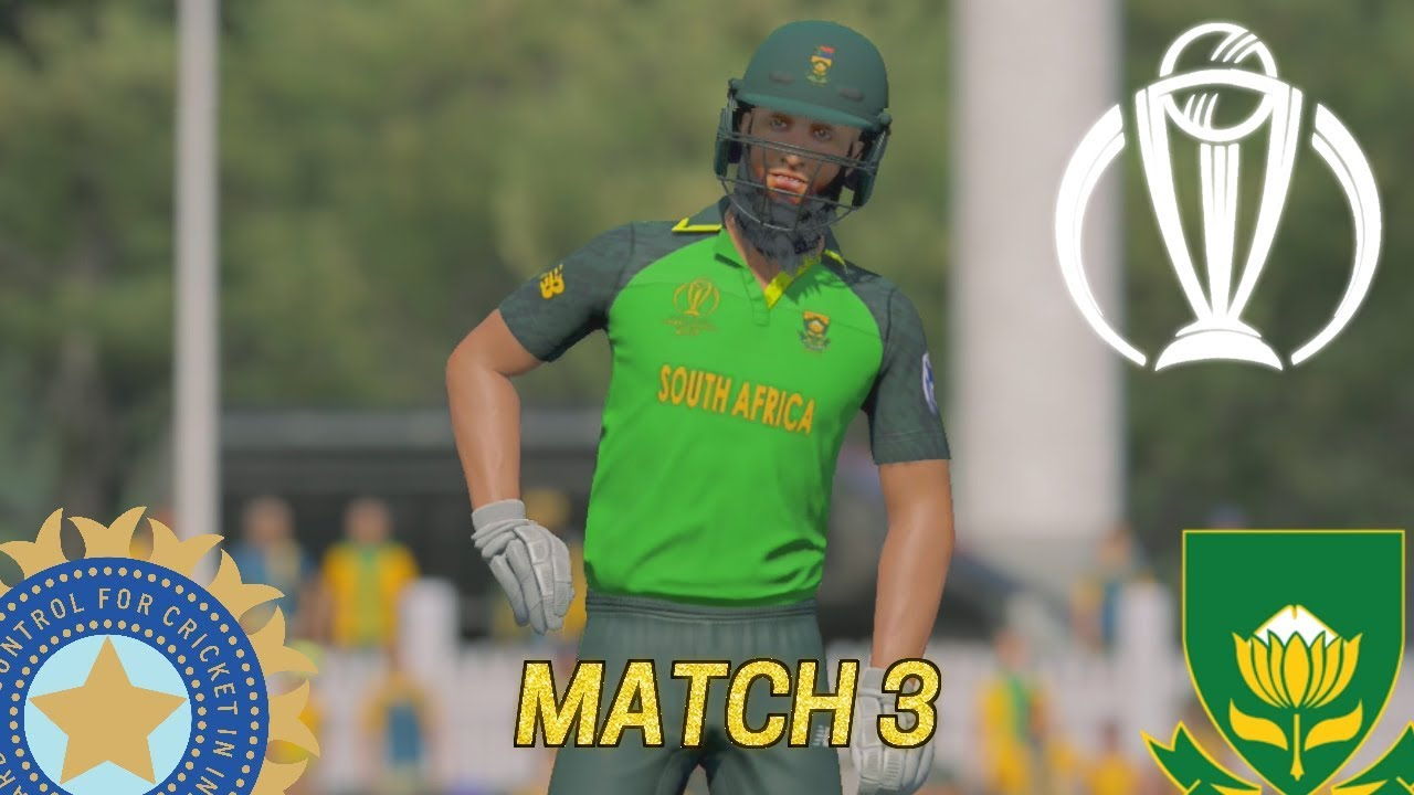 ICC CRICKET WORLD CUP 2019 GAMING SERIES - INDIA v SOUTH AFRICA MATCH 3 (ASHES CRICKET 19)