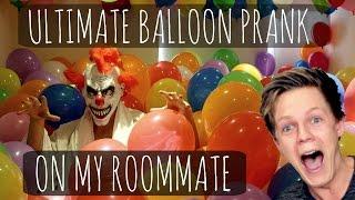 Ultimate Balloon Prank On My Roommate