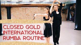 Closed Gold International Rumba Routine